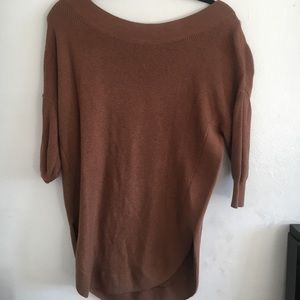 Off Shoulder/Scoop Sweater from Express Size Small